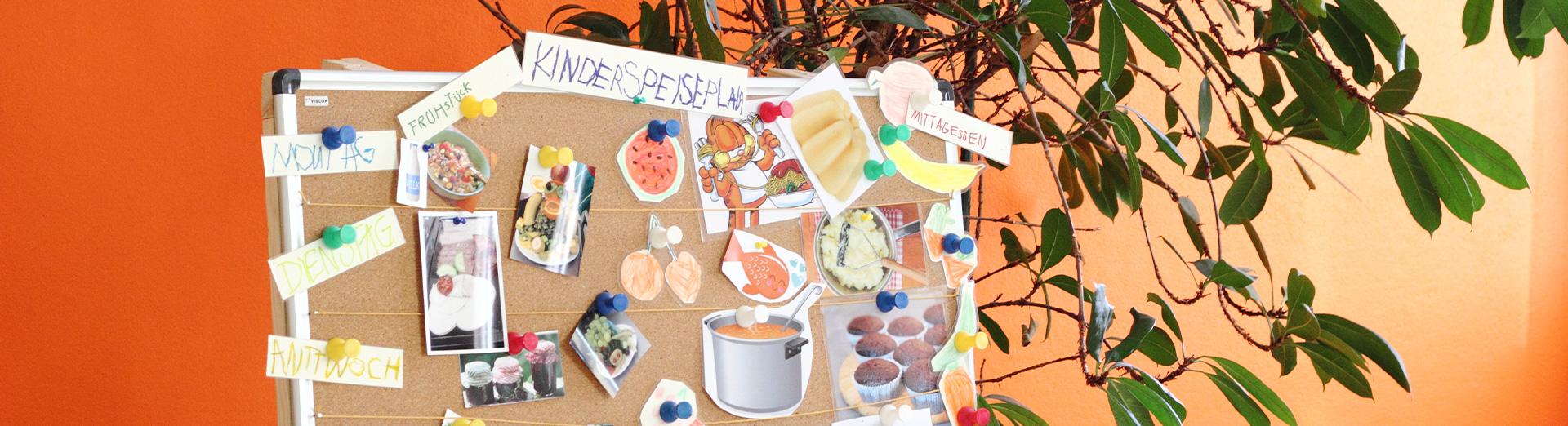 Kinderspeiseplan mit Bildern, Fotos und Texten