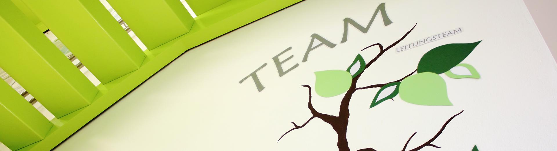 """Nahaufnahme Wandbild """"Team"""""""